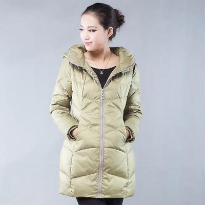 【售完】批发杭州品牌斓碟七分米羽绒服棉服呢子大衣品牌折扣女装
